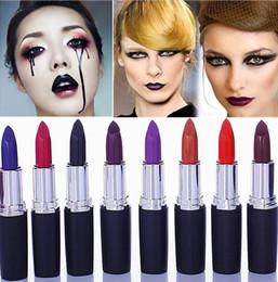 rossetto nero viola scuro Sconti Luxury Lipstick Vampire Grape Purple Dark Black Rossetto Vampire Style Rossetto Masquerade Comestic Waterproof rossetto 8 colori