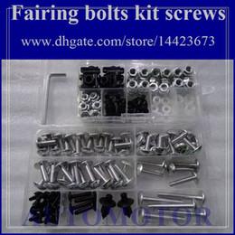 Wholesale 93 Zx 11 Fairings - Fairing bolts full screw kit For KAWASAKI NINJA ZX-11 93-01 ZX11 ZX 11 ZX 11R ZX11R ZX-11R 93 94 95 96 97 1A29 Body Nut Nuts bolt screws