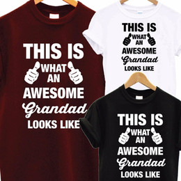 Wholesale Awesome Super Grandad DAD T Shirt Fathers Day XMAS Christmas Birthday Gift Top Men Funny Tops Tee Euro Size S XXXL