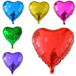 Wholesale Inflatable Hearts - Heart Foil Balloons Wedding Inflatable Balloons 45*45cm Birthday Party Princess Decorations Event Party Supplies 7 Styles Free Shipping