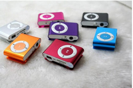 Wholesale Music Player Sd Slot - hot sale Fashion Mini Cheap Clip Digital Mp3 Music Player USB with SD card Slot mixed colors