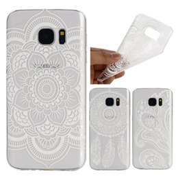 Wholesale Wholesale Tattoo Gel - For Samsung S7 Edge S7Edge A710 A510 J510 J710 Tattoo Pattern Flower Soft Ultrathin TPU Rubber Gel Case Cover for Galaxy G9300 G9350