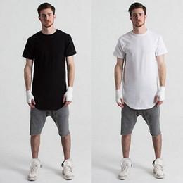Wholesale Plain Shirt Men - Wholesale Top Quality Men Cotton 7 colors plain short sleeve long hit pop T Shirt for men S-3XL