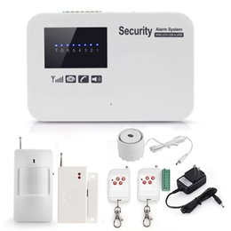 Wholesale Door Sms - Wireless GSM Home Alarm system IOS Android App control English Russian Spanish voice SMS Auto dial