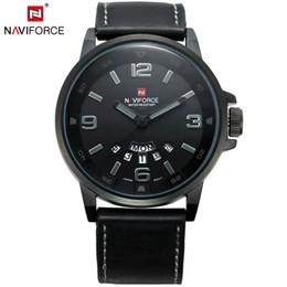 Naviforce marca reloj moda reloj de cuarzo de cuero de moda a prueba de agua reloj militar analógico ejército para hombre relojes deportivos reloj de pulsera Dropship desde fabricantes