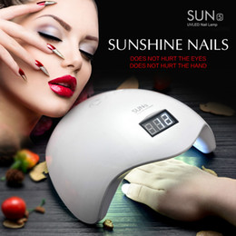 Wholesale Nails Uk - High Quality Gel Nail Dryer Lamp 48W White Light Profession Manicure LED UV Dryer Lamp Fit Curing All Nail Polish Nail Tools