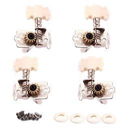 Wholesale Tuning Peg Buttons - 1 Set 2R2L Ukulele Machine Heads Tuner Guitar Tuning Pegs Flower Shaped Button 8pcs Screws
