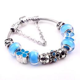 Wholesale Green Crystal Butterfly Beads - Charm bracelets for women Bracelet Glass & Crystal European Charm Beads Fits Charm bracelets Style Butterfly Bracelets