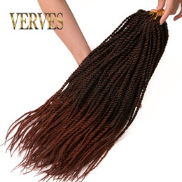 Wholesale Freetress Synthetic Hair - 30 brown Senegalese Twist Hair 18inch 30Roots 75g Havana Twist Senegalese Twist Freetress Braid Hair Extensions