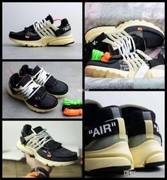 Wholesale Top Sport Shoes Designer Brands - 2017 White x Air Presto Running Shoes For Men & Women Top Quality Brand Designer Limited Sports Offwhite Sneakers Size 36-45