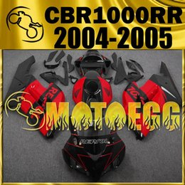 Wholesale Honda Cbr Gifts - Five Gifts Motoegg Fairings Bestselling Injection Mold Kits For Honda CBR1000RR 04 05 CBR 1000RR 2004 2005 Complete Set Red Black H14M71