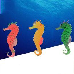 Wholesale Wholesale Small Fish Aquariums - Fish Tank Decoration Luminous Simulation Small Hippocampus Aquarium Artificial Landscaping A Variety Of Colors Hot Sale 4 3zy J