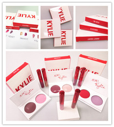 Wholesale One Hearts - HOT Valentine's day Edition kylie 2 pcs lipgloss+one pcs eyeshadow The Smooch Kiss Me Sweet Heart 3pcs kylie Jenner kylie free shiping DHl