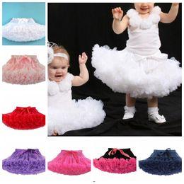 Wholesale Wholesale Girls Dancewear - Baby Kids Girl Tulle Princess Dress Dance Tutu Skirt Fluffy Pettiskirt Dancewear birthday dress princess skirts bowknot Skirt KKA3446