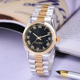Wholesale Watch Winding Boxes - Luxury aaa watches male clocks Roman numerals wristwatches automatic calendar Mechanical mens watches full stainless steel strap and boxes