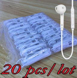Wholesale Chinese Galaxy S2 - 20 pieces   lot For s6 Earphone Stereo Earbuds In-Ear With Mic for MP3 MP4 Samsung Galaxy S7 S6 S4 S3 S2 i9800 i9300 S6 Edge