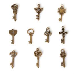 Wholesale 14k Grams - Free shipping New Free shipping Mixed Antique Bronze Fashion Key Charms Keys (100 gram =107piece ) jewelry making DIY