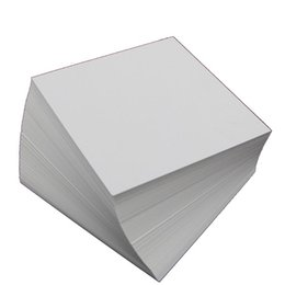 Wholesale Wholesale Note Cards Blank - Wholesale- Plain White Cardstock Blank Notepad Card For Paper Craft 90mm x 90mm 165 x 100mm 70mm x 70mm