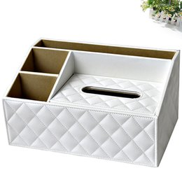 Wholesale Perfect Seats - Wholesale- Ever Perfect Multi functional 3 Slots Desk Stationery Organizer Tissue Boxes Case Remote Controls Holder Container Box 1483