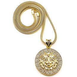 Wholesale 14k Gold Jesus Pendant - Hot Hip hop long necklace crystal jesus piece pendant Fashion Jewelry for women & men free shipping