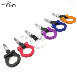 Wholesale European Tow Hook - Wholesale-Motofans- Racing Billet Aluminum Tow Hook Trailer Automobile Front Rear for BMW European Car Trailer(Blue Red Gold Black Silver)