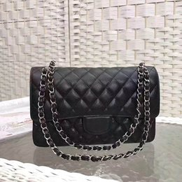 Wholesale Black Diamond Package - Wholesale Luxury Famous Classic Fashion Packages Leather Buckles Horizontal rectangular packages Shoulder Bags Black CF Double Flap Bags