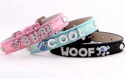 Wholesale Dog Color Slide Charm - Hot-sale Charming DIY Name Personalized Dog Cat Collar PU Wholesale Suit 10mm A-Z Slide Letter 5 Color 4 Size Mix Order 10PCS LOT
