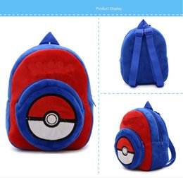 Wholesale Pikachu Plush Backpack - Boys Girls Toddler Poke Cartoon Pokémon Backpack   School Bag kids christmas gifts X'mas gift Pikachu Children's Plush Doll Backpack bags