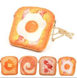 2019 crossbody taschen für handy 3D Simulation personalisierte gedruckte Butter Toastbrot Crossbody Geldbörse Brieftasche Tasche Handy Messenger Bag Zip Geldbörse kka2748 günstig crossbody taschen für handy