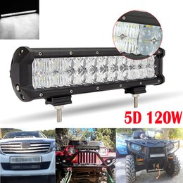 Wholesale Car Working Light - 120W 12inch 12000LM Led Light Bar 5D Auto SUV Combo for Vehicle Driving Lamp For Truck SUV Boat ATV Car Work Lights CLT_41I