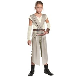 Wholesale Children S Carnival Costumes Wholesale - New Arrival Child Classic Star Wars The Force Awakens Rey Fancy Dress Girls Movie Charater Carnival Cosplay Halloween Costume