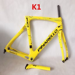 Wholesale Cheap Bikes Free Shipping - 2018 f10 carbon frame yellow sky with bb right t1100 1k weave road bicycle frames carbon cheap chinese carbon road frame free shipping