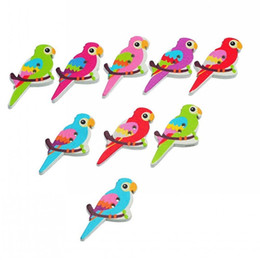 Wholesale Bird Sewing Pattern - Bird Pattern Wooden Buttons 2 Holes Random Mixed DIY Craft Sewing Accessories And Scrapbooking 3.5x1.7cm Pack Of 50pcs I437L