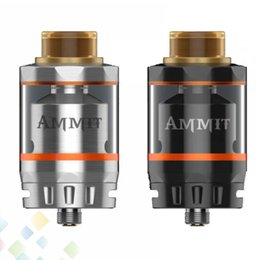 Wholesale Original Options - Original GeekVape Ammit RTA Dual Coil Version 3ml 6ml Tank Capacity Option Four Path Airflow from Bottom Side E Cig DHL Free