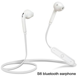 Wholesale Mobile Phone Bluetooth Earphone - S6 Bluetooth Headset Wireless Earphone Headphone with Microphone for Samsung Galaxy iPhone HTC Sony Xiaomi Mobile Phone