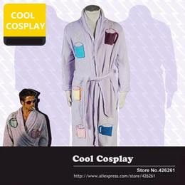 Wholesale Coffee Mug Sleeve - Wholesale-Fight Club Tyler Durden Brad Pitt Coffee Cup Mug Bathrobe robe everyday clothing coral fleece Pajamas