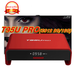 Wholesale Pandora Red Box - T95U Pro red tv box android 7.1 s912 octa-core cortex a53 kd17.1 5ghz wifi bluetooth bt h265 supported 4kx2k uhd output media players