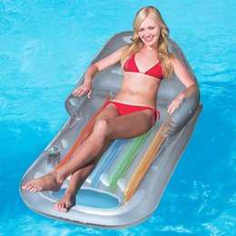 Wholesale Sun Lounger Wholesale - Bestway Designer Fashion PVC INFLATABLE SWIMMING POOL BEACH SEA SUN LOUNGER AIR BED LILO FLOAT CHAIR