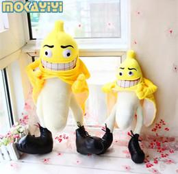 Wholesale Evil Toys - New 2017 evil banana dolls plush dolls pillow creative birthday gift Men and women funny toys
