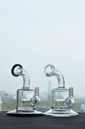 Wholesale Low Price Pipes - Black And Transparent Colorful Thick Small Glass Bongs Pocket Glass Water Pipes Recycler Oil Rigs Bong Smoking Pipe Hookahs Low Price New
