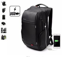 Wholesale Laptop Computer Bag Wholesale - Kingsons Antitheft Laptop Backpack 15.6 inch Water Resistance Notebook Backpack External USB Charge Computer Bag for Men Women DHL Free
