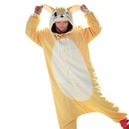 Wholesale Fox Onesie - Cartoon Animal Vulpes zerda Cute Zootopia Fennec Fox Pajamas Anime Cosplay Costume Unisex Adult Onesie Sleepwear Animals Fox jumpsuit Free