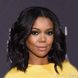 Wholesale Dyed Lace Wig - Natural Wave Lace Front Wigs Short Length Bob Wigs Malaysian Human Hair Cheap Price Wigs Natural Off Black Color Can Dyed Swiss Lace