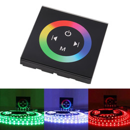 Wholesale Touch Wall Dimmer Led - NEW Household Wall RGB LED Touch Panel Controller led Dimmer for DC 12V LED Strip