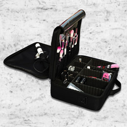Wholesale Professional Tattoo Case - Large Capacity Multilayer Clapboard Cosmetic Cases Professional Makeup Tools Organizers Bag Portable Manicure Tattoo Makeup Kit