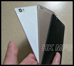 Wholesale Huawei Batteries - for Huawei P8 LITE Rear door Battery Back Door Cover P8 Lite Plastic Back Housing black white gold