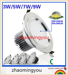 Wholesale Cree Down Spot Light - YON 3w 5w 7w 9w led downlight Cree LED ceiling lamps Recessed Spot light Down Lights for home illumination