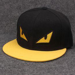 Wholesale Eyes Hat - 3 colors hats Little monster two eyes baseball cap snapback Hip hop Adjustable casual duck cap unisex caps embroidery Yankees caps