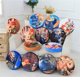 Wholesale Toy Round Animal Pillow - Hold Pillow Peripheral Pillow Doll Fox Judy Rabbit Plush Toy Doll Girl Gifts Crazy Animals In Same City Cotton Throw Hold Pillow