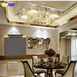Canada Warm Rectangle Ceiling Lamp Dining Room Lights Modern Creative Art Deco Lighting Remote Control